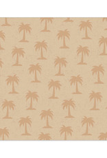 Servet Palm Tree 33x33cm-naturel/gold