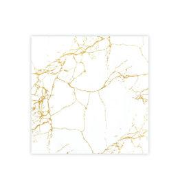 Servet Marble 25x25cm-white/gold