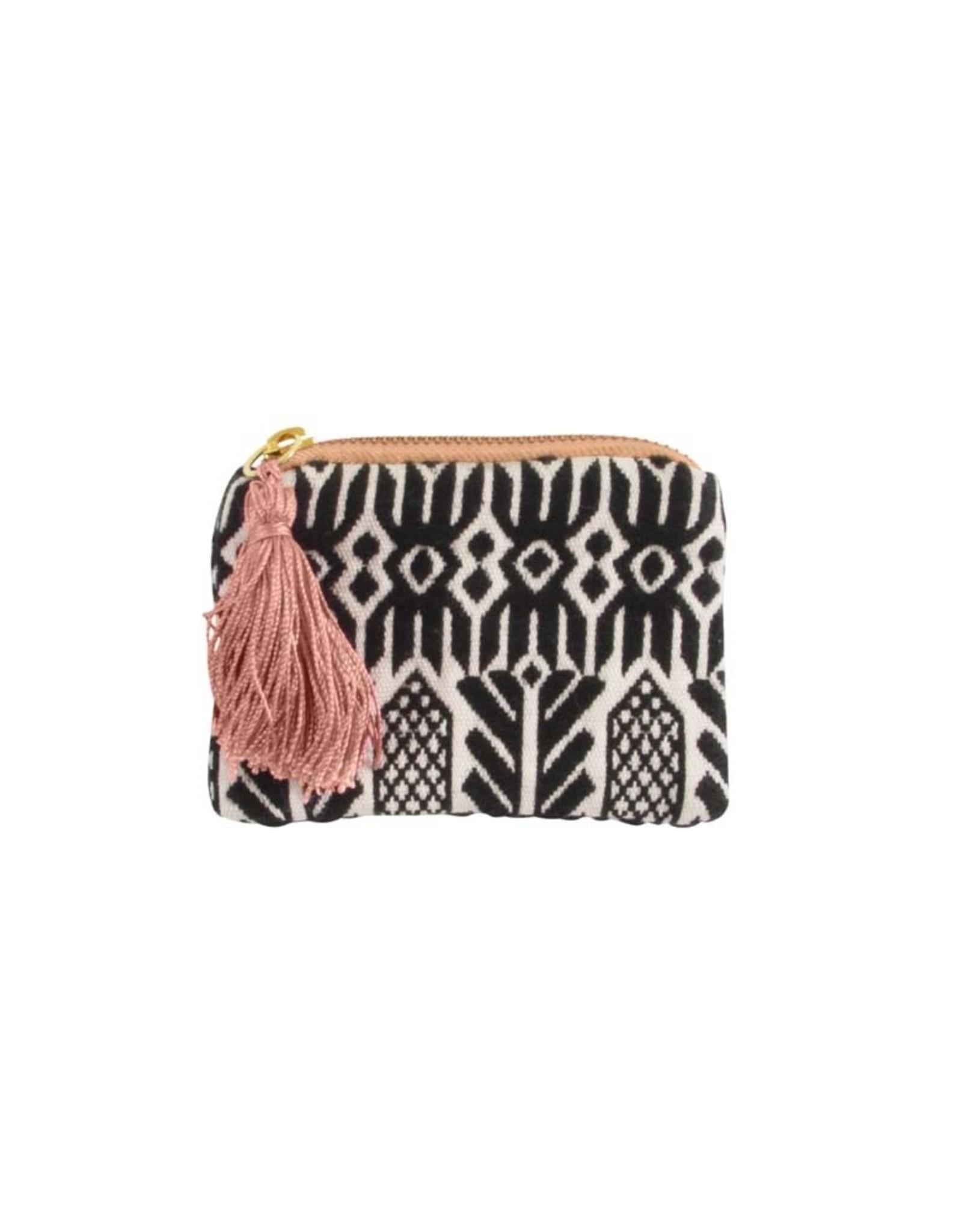 Wallet Cotton 8x12cm-black/white