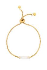 Ellen Beekmans Armband Gemstone Tube-gold/white