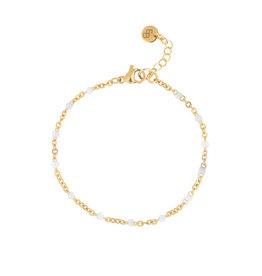 Ellen Beekmans Armband Fine Email-gold/white