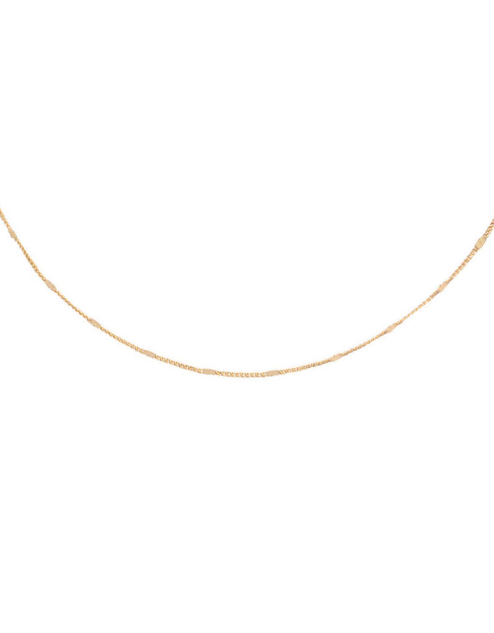 Ellen Beekmans Ketting Short Platte schakel-gold