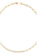 Ellen Beekmans Ketting Short Schakel Oval-gold