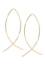 Ellen Beekmans Oorbellen Long Elipse-gold
