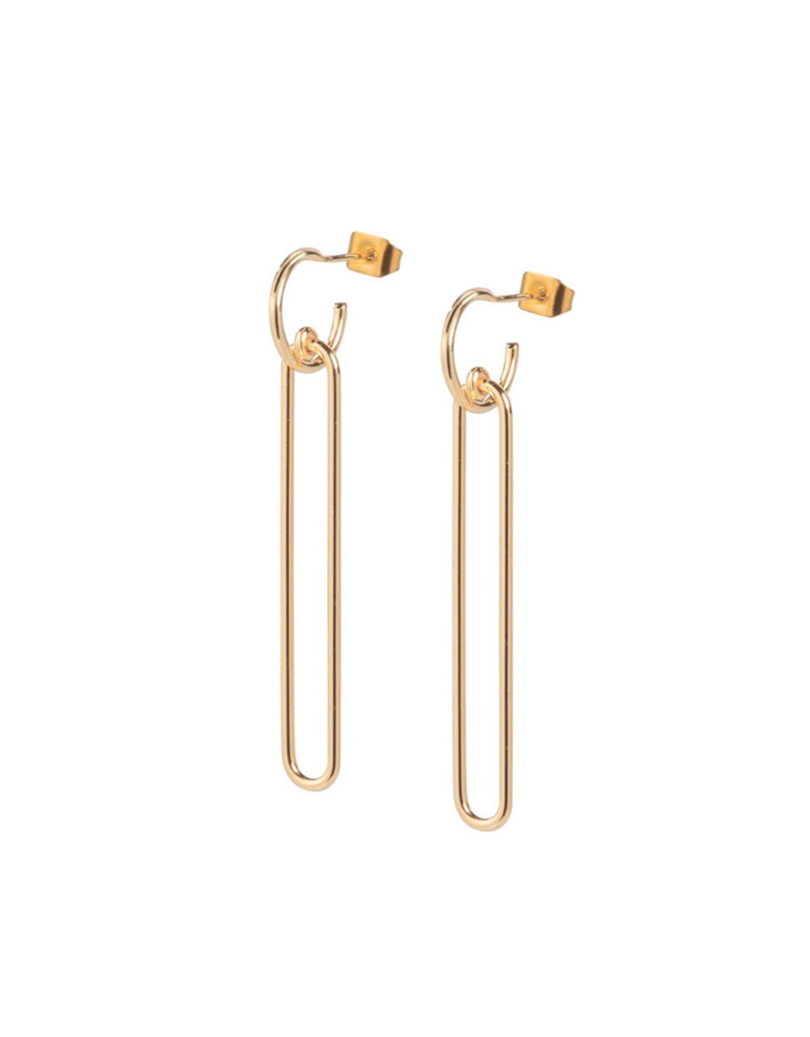 Ellen Beekmans Oorbellen Long Ovals-gold