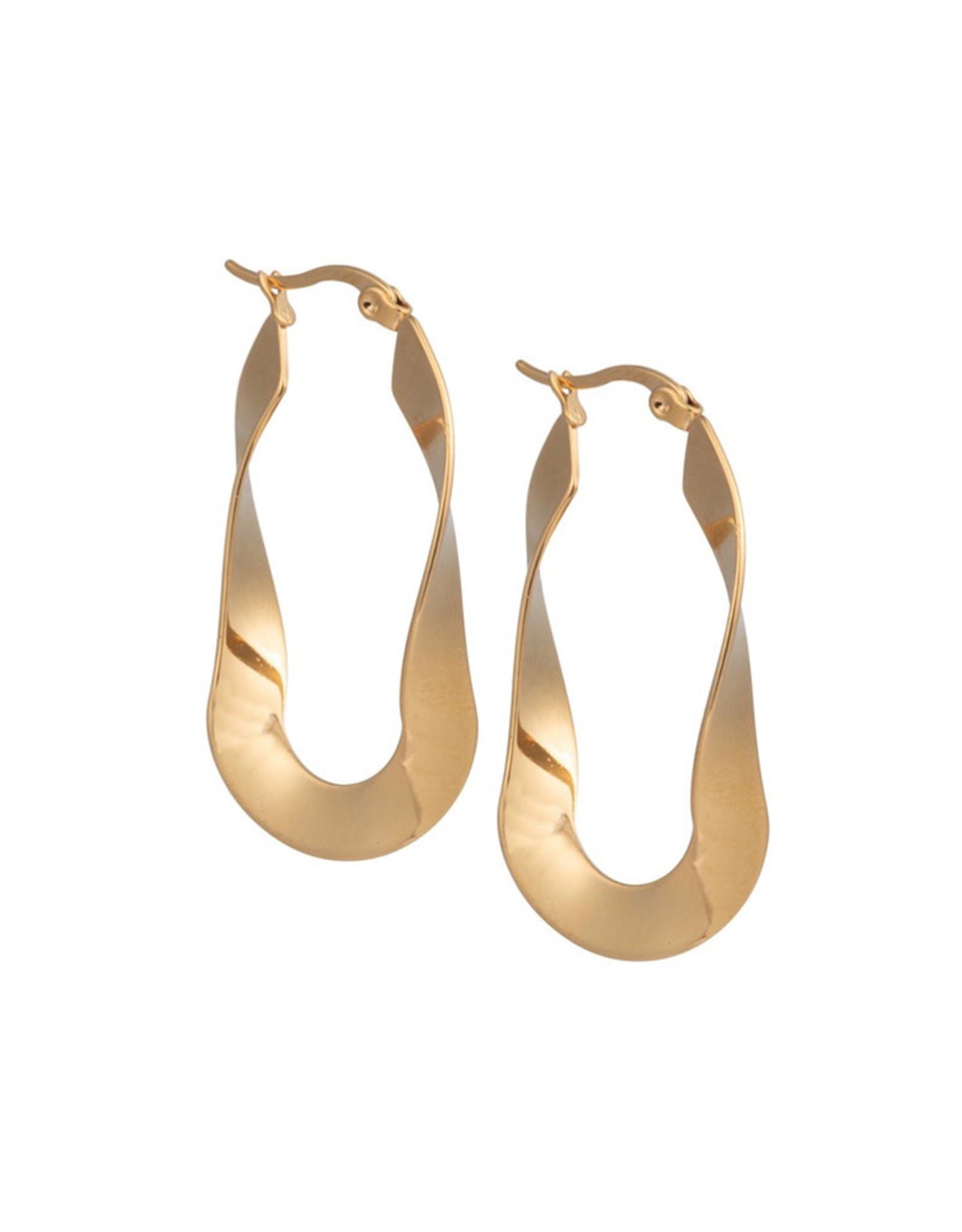 Ellen Beekmans Oorbellen Twisted Oval-gold