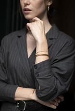 Ellen Beekmans Armband Bangle Spiral with Coin-gold
