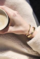 Ellen Beekmans Armband Bangle Hammered Fine-gold