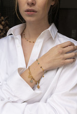 Ellen Beekmans Ketting Short Gemstones-gold/mixed colors