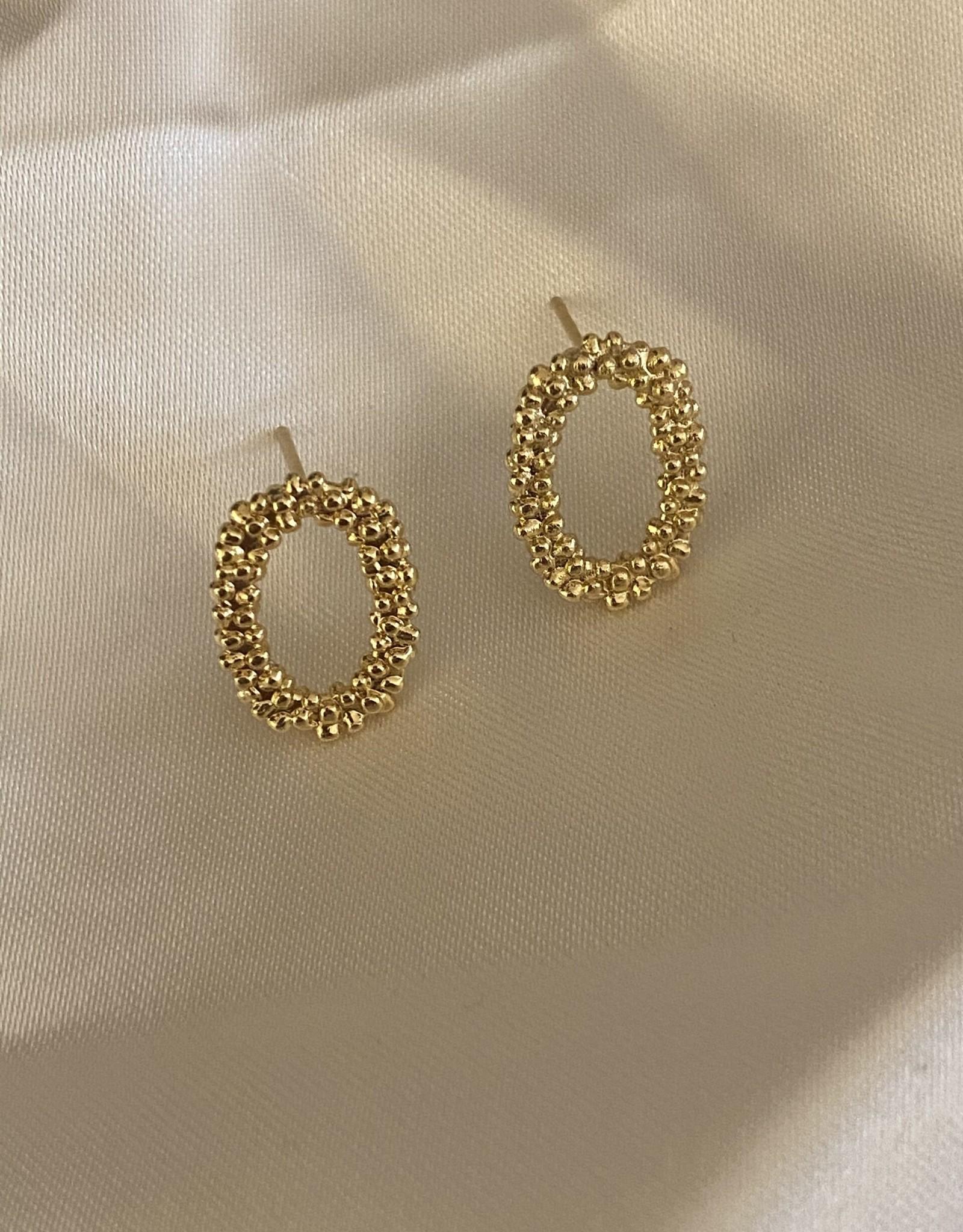 Ellen Beekmans Oorbellen Studs Oval-gold