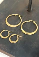 Ellen Beekmans Oorbellen Creole Classic 1,5cm-gold