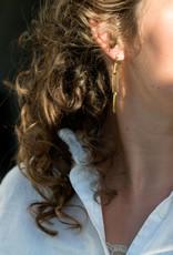 Ellen Beekmans Oorbellen 3 Schakels-gold