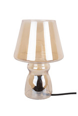 Table Lamp Classic Glass16x25cm-amber brown