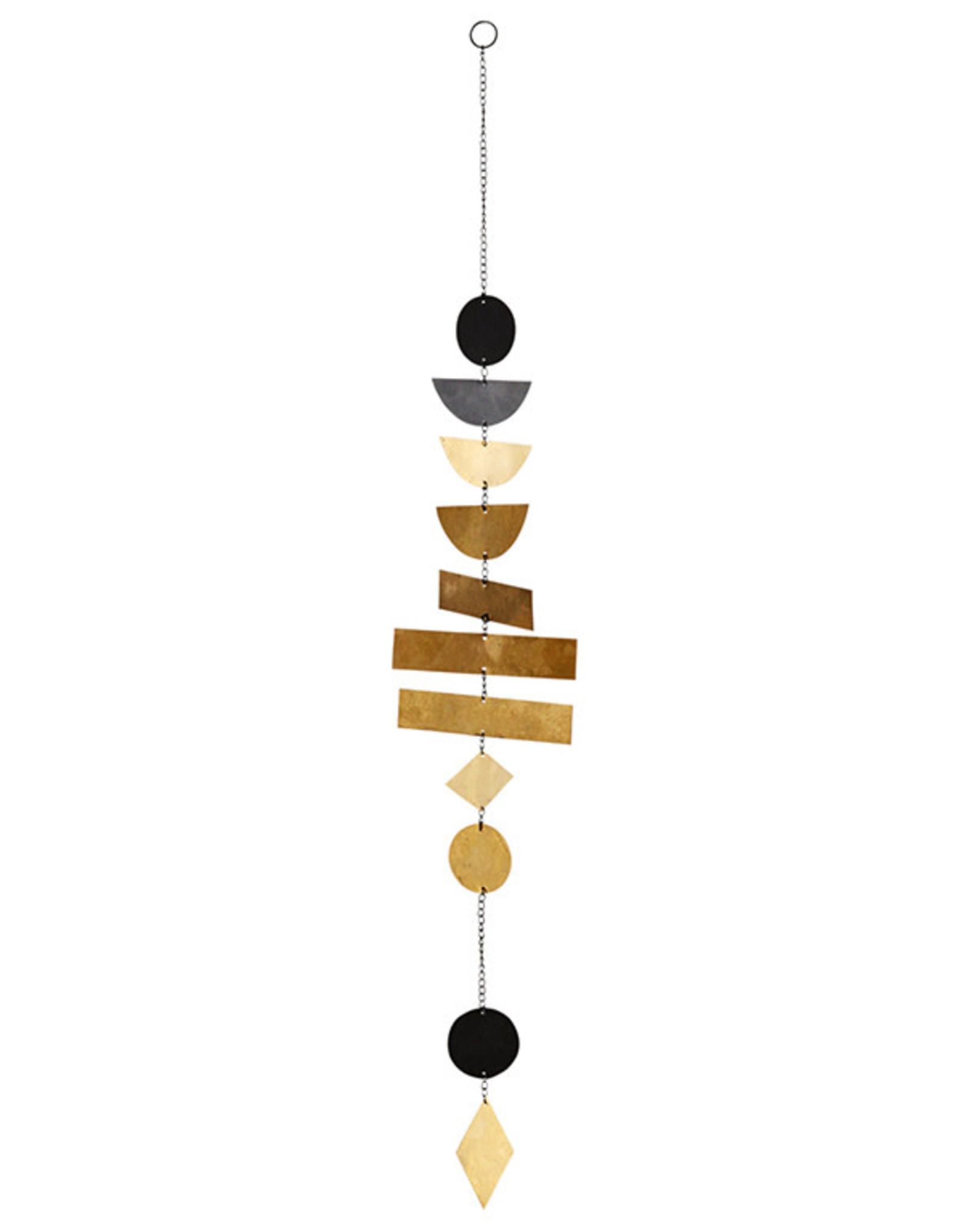 Madam Stoltz Hanging Metal Deco-black/gold