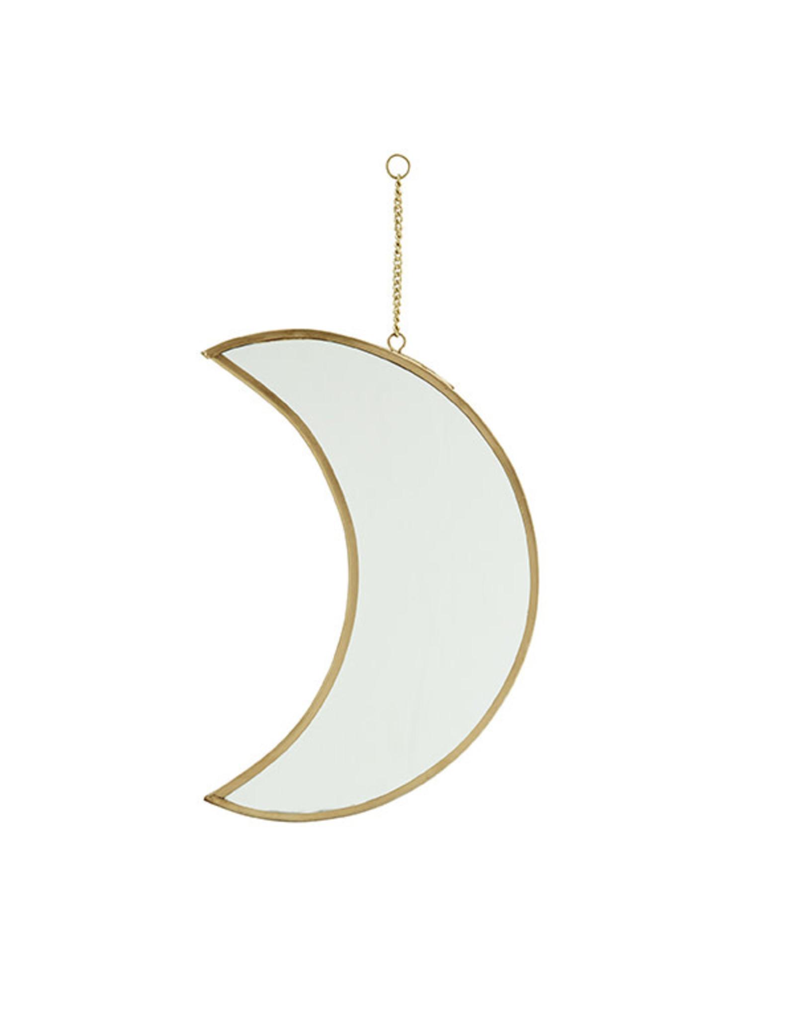 Madam Stoltz Hanging Mirror Moon Medium 20cm-gold