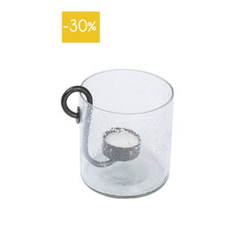 Leeff Tealight Holder Ties-glass/metal
