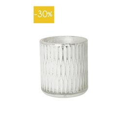Theelichthouder Ovaal 8x9cm-white