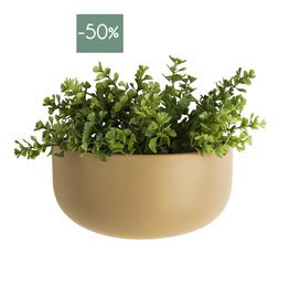 Wall Plant pot Oval Wide-sand brown