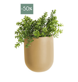Wall Plant pot Oval-sand brown