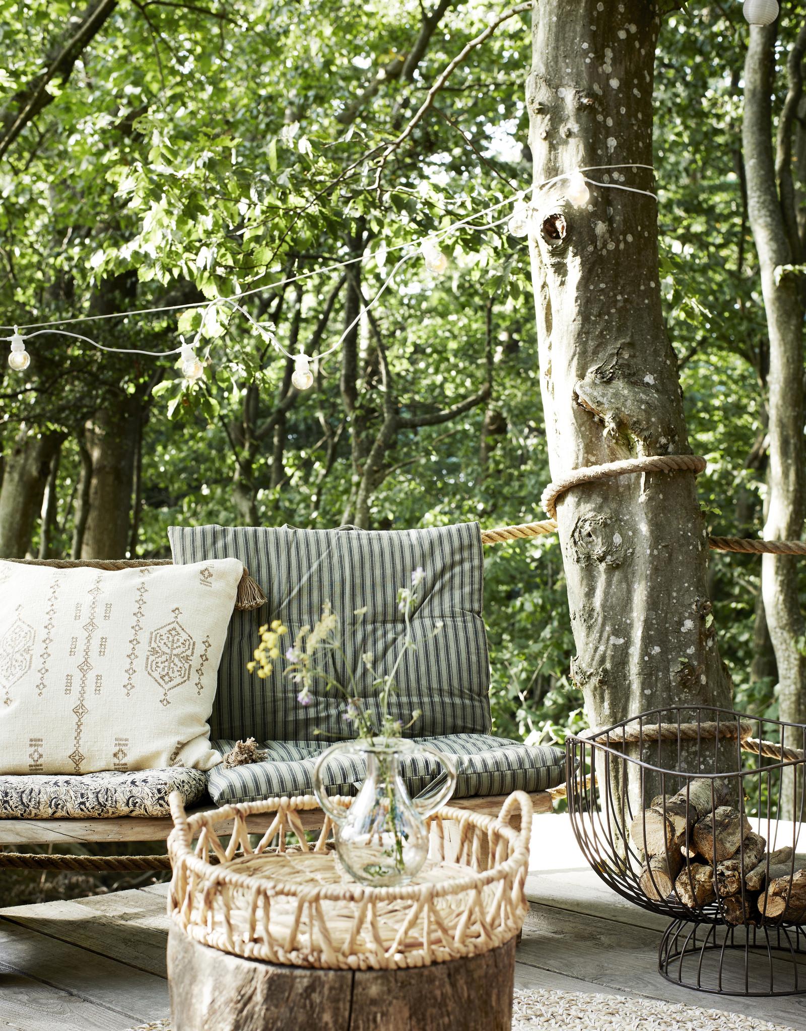 Madam Stoltz Dienblad met handvaten Water Hyacinth 38x12 cm-naturel