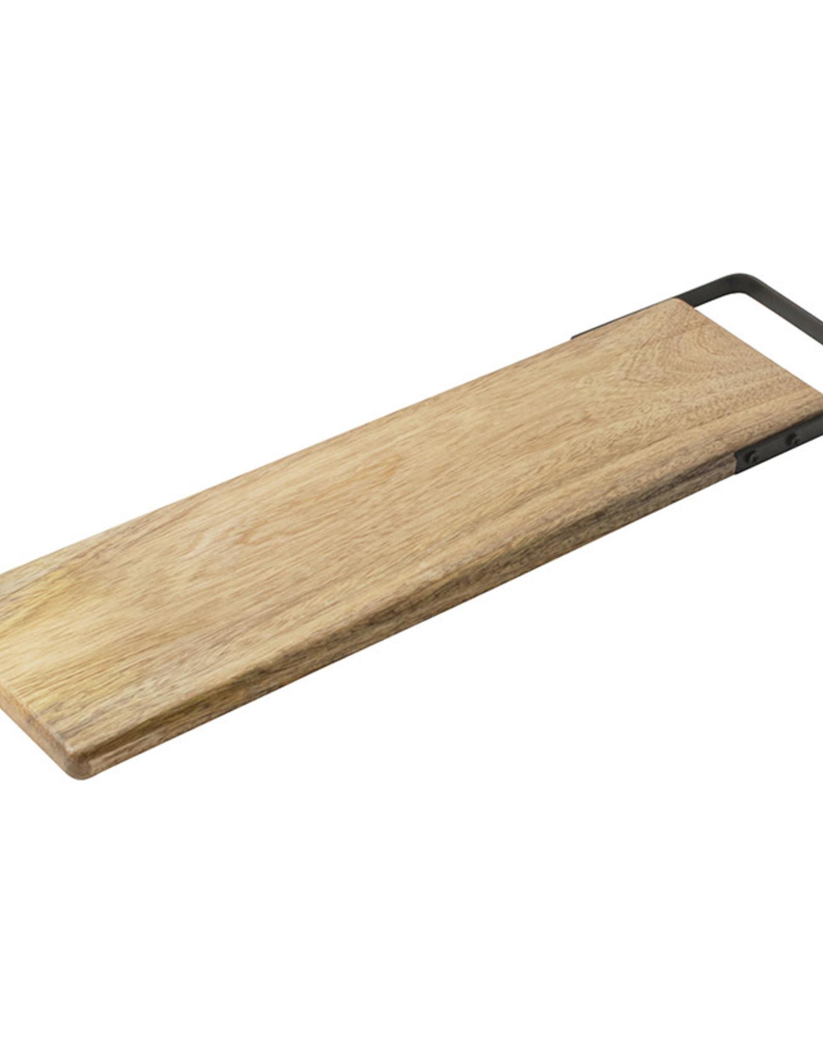 Serveerplank met handvat 50x13cm-mango wood/black
