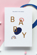 Hello August Wenskaart-BABY welcome to the world