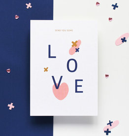 Hello August Wenskaart-LOVE send you some