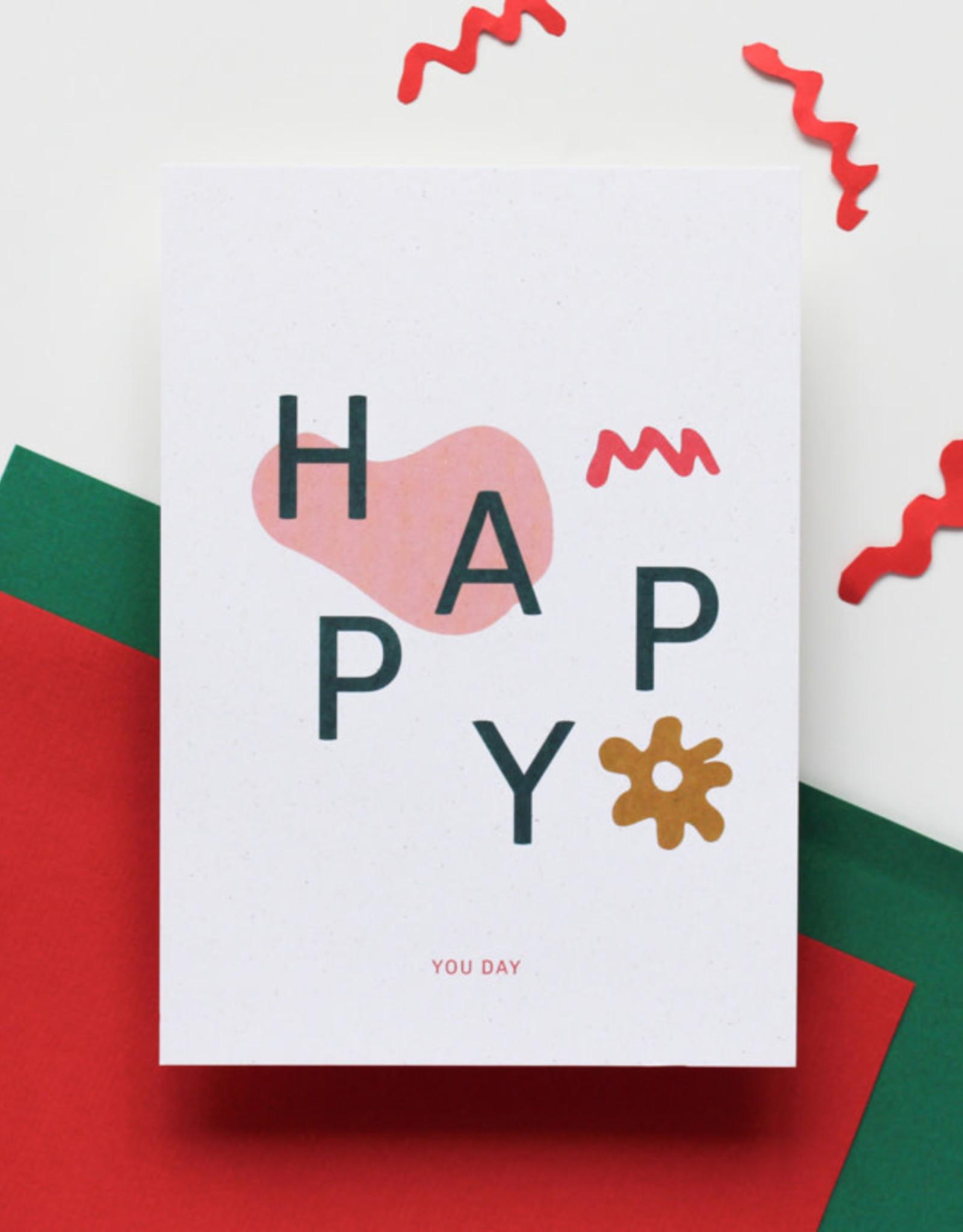 Hello August Wenskaart-HAPPY you day