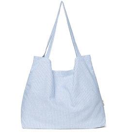 Studio Noos Studio Noos Mom Bag Striped Linen-light blue