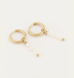 My Jewelry Oorbellen Creole 3 Pearls-gold