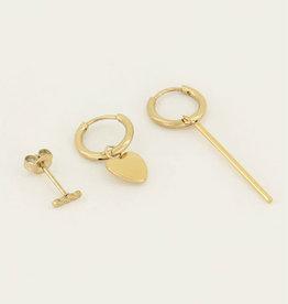 My Jewelry Oorbellen SET Heart-gold