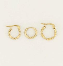 My Jewelry Oorbellen SET Twisted-gold