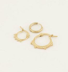 My Jewelry Oorbellen SET Dots-gold