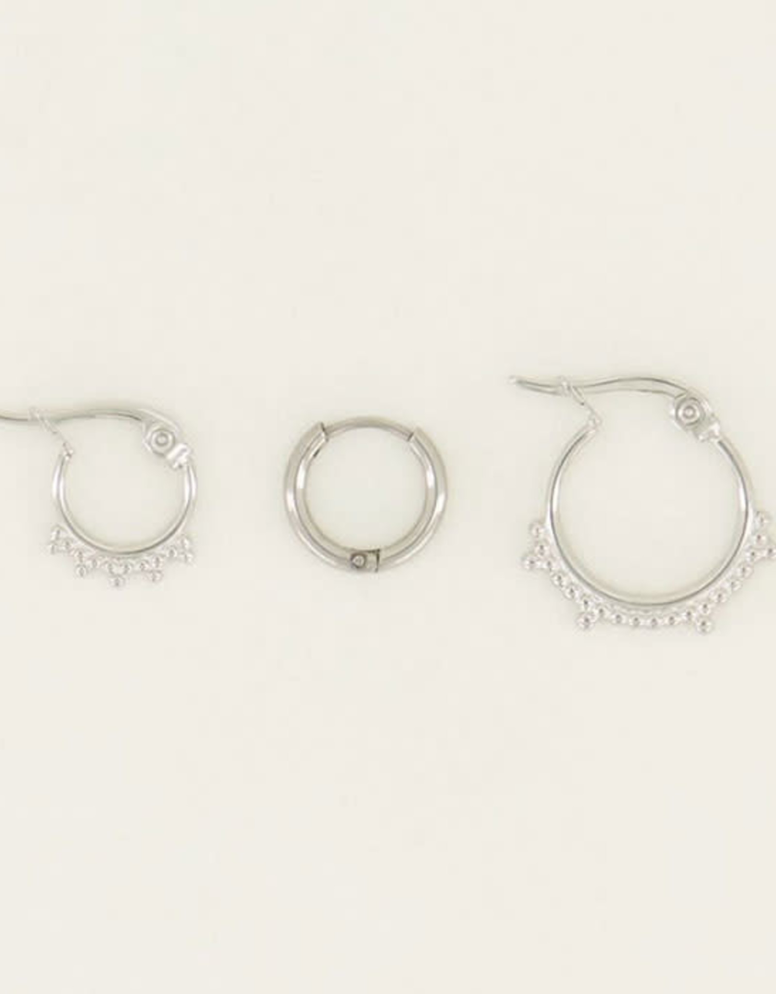 My Jewelry Oorbellen SET Dots-silver