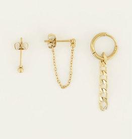 My Jewelry Oorbellen SET Schakel-gold