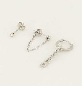 My Jewelry Oorbellen SET Schakel-silver