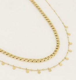 My Jewelry Kettingen SET Coins/Schakel-gold