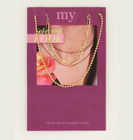 My Jewelry Kettingen SET Dots/Schakel-gold