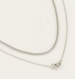 My Jewelry Kettingen SET Star/Schakel-silver