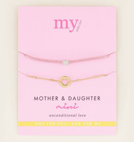 My Jewelry Armband SET Mother & Daughter Mini-gold/pink
