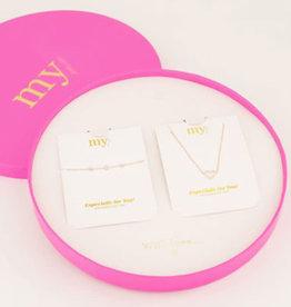 My Jewelry Giftbox MOM Armband/Ketting Heart-silver