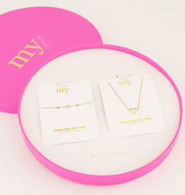 My Jewelry Giftbox MOM Armband/Ketting Heart-gold