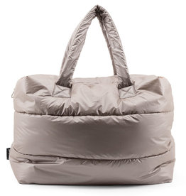 Tinne+Mia CAMILL Big Puffy Weekend Bag-greige gold/nylon