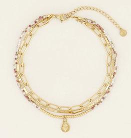 My Jewelry Enkelbandje Triple-gold/mix color
