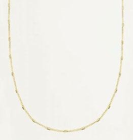 My Jewelry Ketting Flat Tube Large-gold