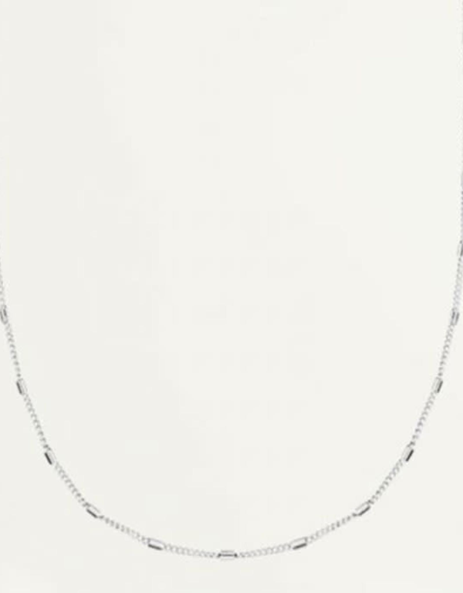 My Jewelry Ketting Flat Tube Large-silver