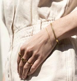 Ellen Beekmans Armband Snake Fine-gold