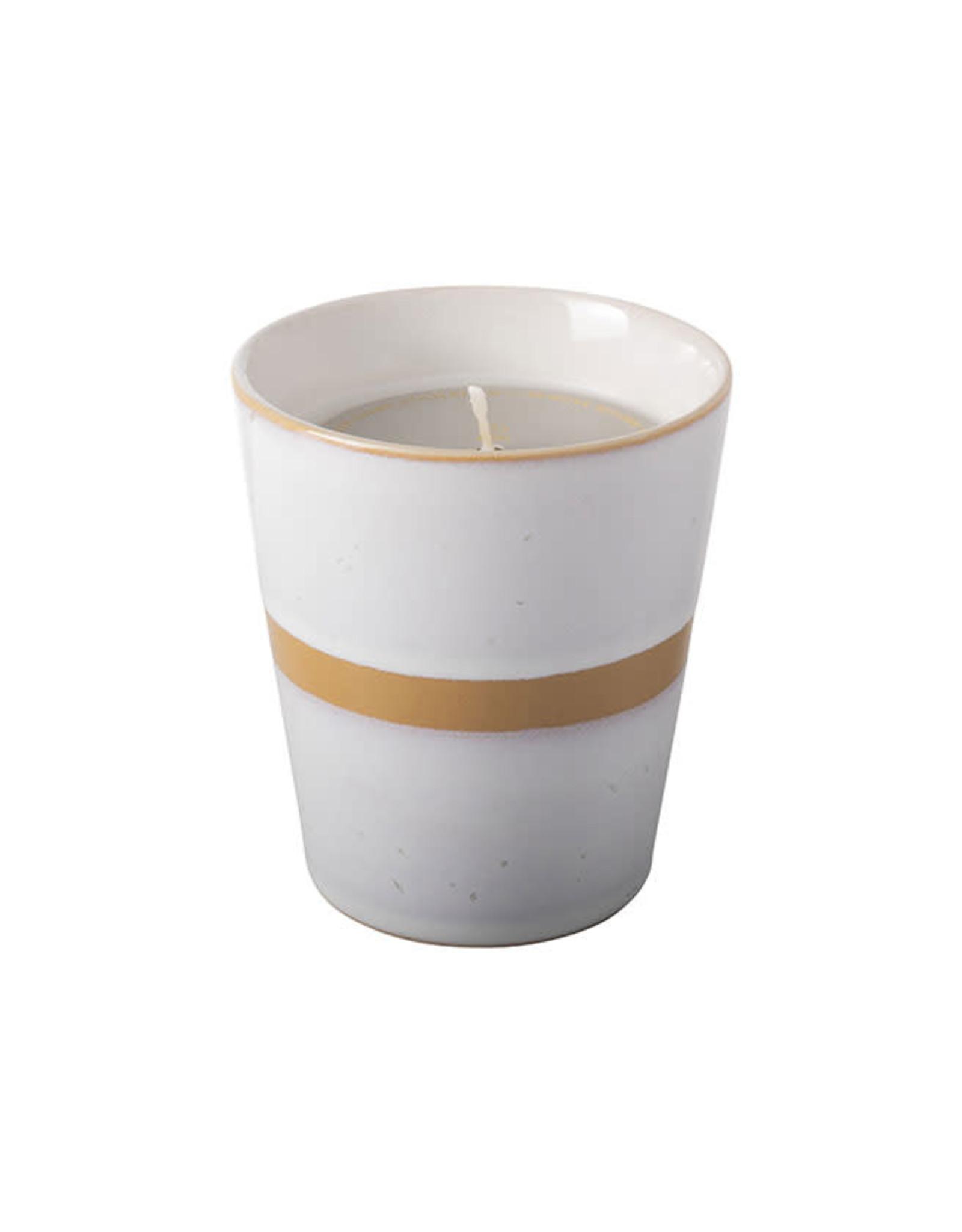 Kaars Keramisch/Koffiemokje-mustard