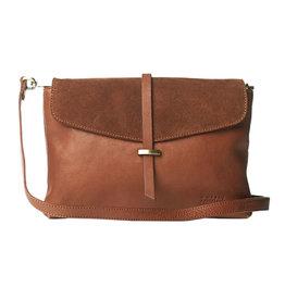 O My Bag Handtas Ella Midi-wild oak (suède & soft grain leather)