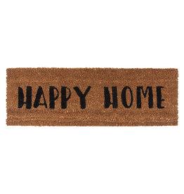 Deurmat Happy Home 75x26 cm-brown/black
